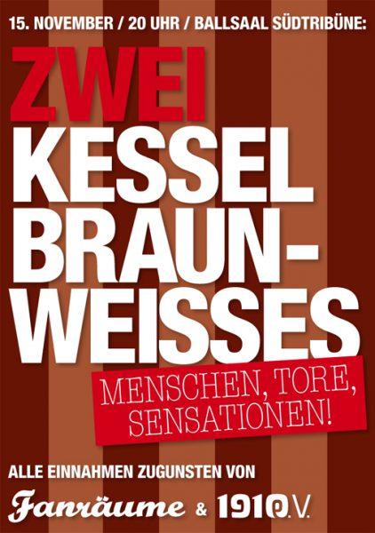ZWEI KESSEL BRAUN-WEISSES